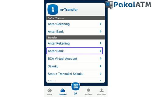 Pilih Menu Transfer Antar Bank