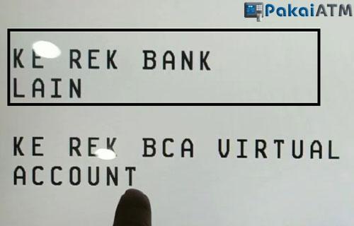 Pilih ke Rek Bank Lain