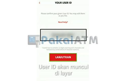 Tampilan User ID