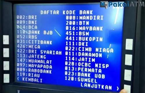 Transfer Bank Lain Lewat ATM