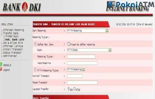 Transfer Bank Lain Lewat Internet Banking DKI