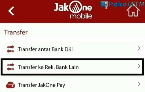 Transfer Bank Lain lewat MBanking