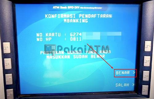 10. Konfirmasi Pendaftaran M Banking