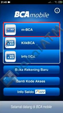 2. Pilih Menu m BCA