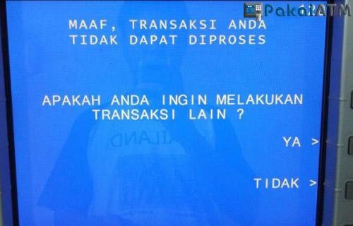 3. Jaringan ATM Error