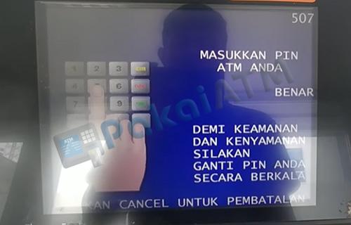 3. Masukkan 6 Digit PIN ATM Anda