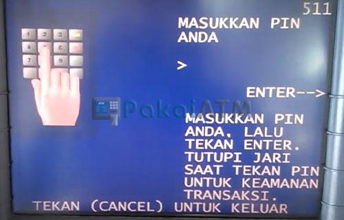 3. Masukkan Nomor PIN ATM Mandiri