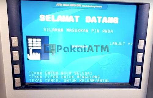 3. Masukkan PIN ATM BPD DIY