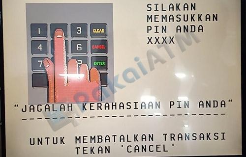 3. Masukkan PIN ATM
