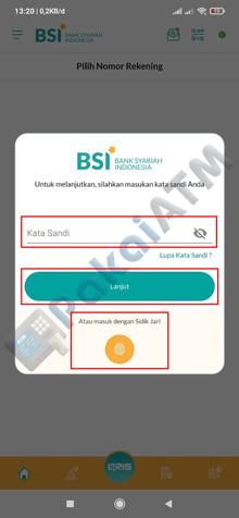 4. Masukkan Password BSI Mobile