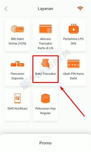 4. Pilih Bukti Transaksi