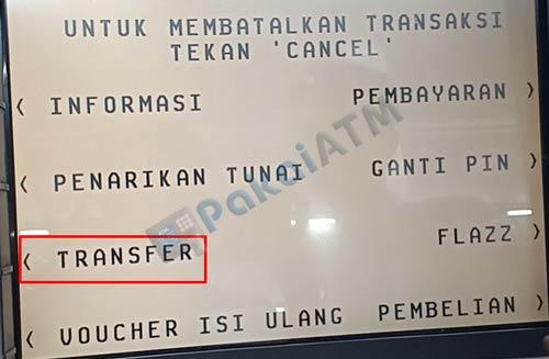 4. Pilih Transfer