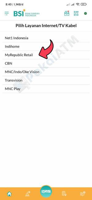 5. Pilih MyRepublic Retail