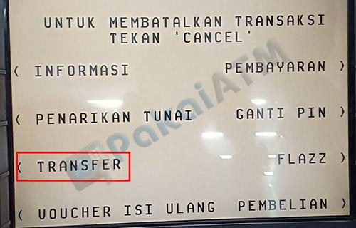 5. Pilih Transfer