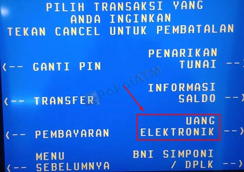 5. Pilih Uang Elektronik