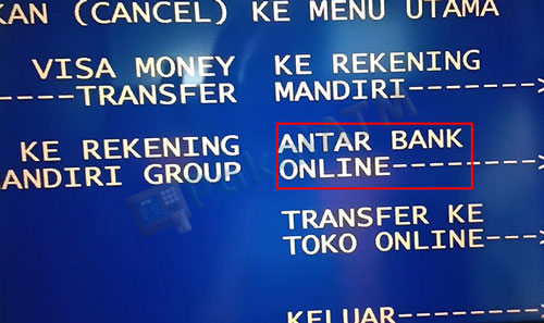6. Pilih Antar Bank Online