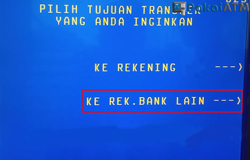 6. Pilih Ke Bank Lain