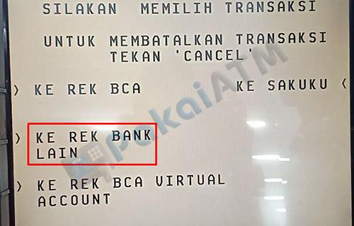 6. Pilih Rekening Bank Lain