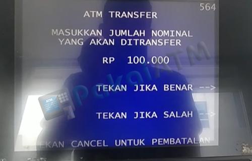 7. Masukkan Jumlah Nominal Uang Ditransfer