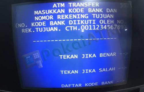 7. Masukkan Kode Bank Nomor Rek Tujuan