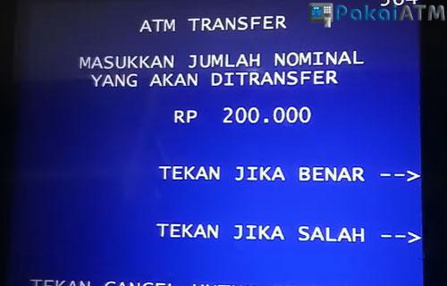 8. Masukkan Nominal Transfer