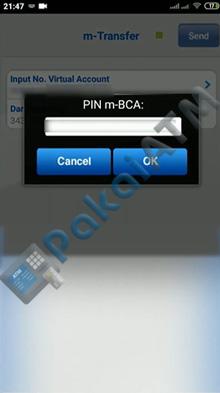 8. Masukkan PIN BCA Mobile