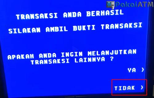 9. Ambil Kartu ATM dari Mesin ATM BJB