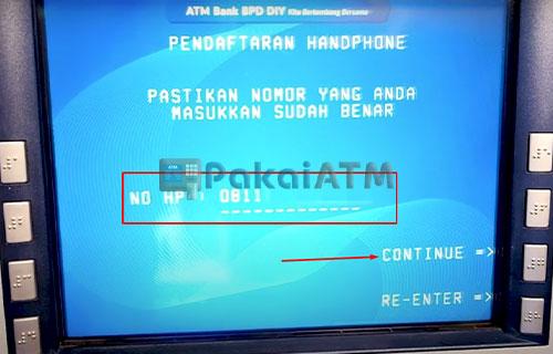 9. Input Nomor HP