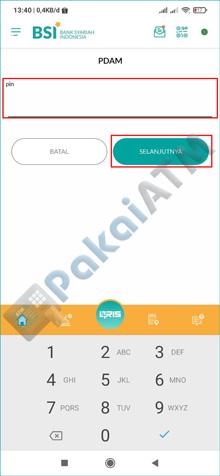 9. Masukkan PIN BSI Mobile