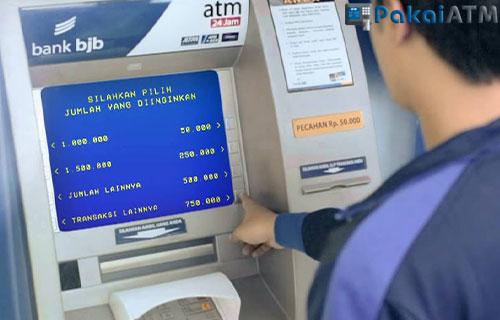 Cara Mengambil Uang di ATM BJB