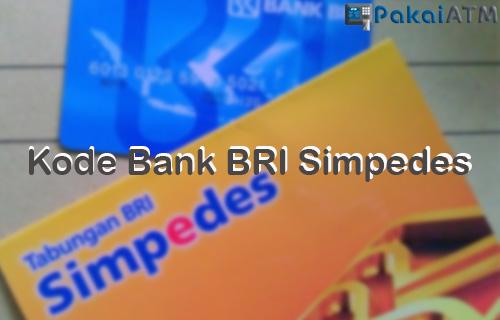 Kode Bank BRI Simpedes Cara Transfer Biaya Admin