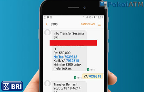Tarif Notifikasi SMS Banking BRI