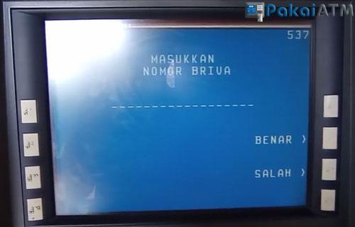 13. Input Nomor Virtual Account Pembayaran SPaylater Lewat ATM BRI