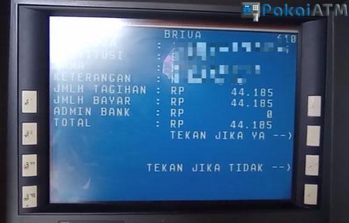 14. Konfirmasi Pembayaran Shopee Paylater Lewat ATM BRI