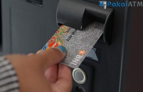 2. Posisi Kartu ATM BNI