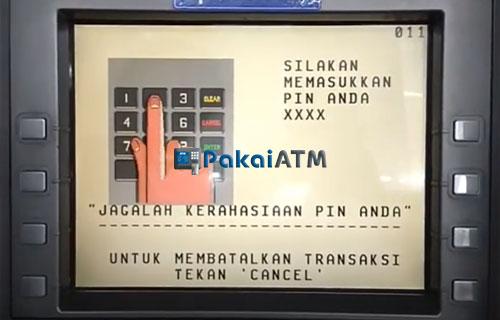3. Masukkan PIN ATM 1