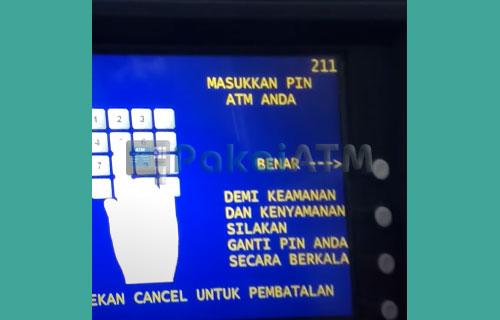 4. Masukkan PIN ATM