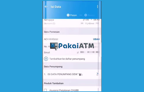 5. Masukkan Data Pemesan