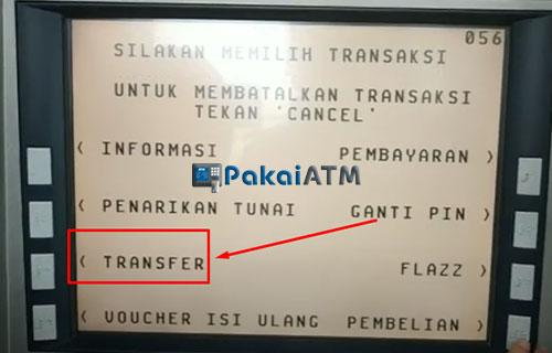 5. Pilih Menu Transfer