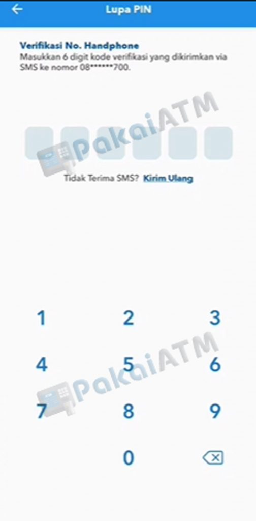 6. Masukkan Kode OTP
