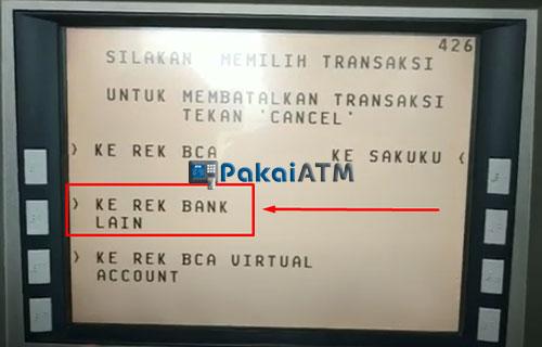 6. Pilih Ke Rekening Bank Lain