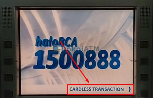 9. Pilih Menu Transaksi Tanpa Kartu