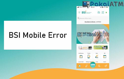 BSI Mobile Error