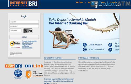 Gunakan IB BRI di Website Resmi