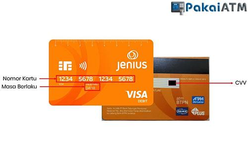 Letak Kode CVV Jenis di Kartu ATM