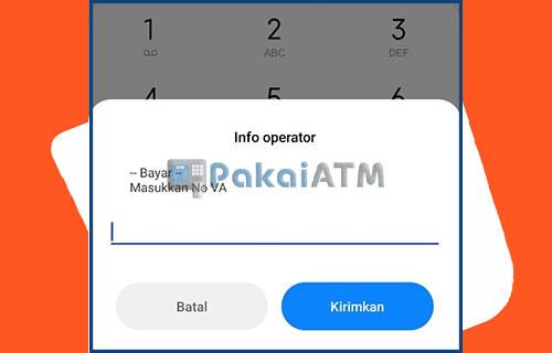 masukkan saja nomor virtual account