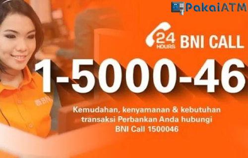 1. Atasi Lewat Call Center BNI