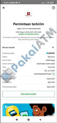 10. Transfer GoPay ke DANA Berhasil