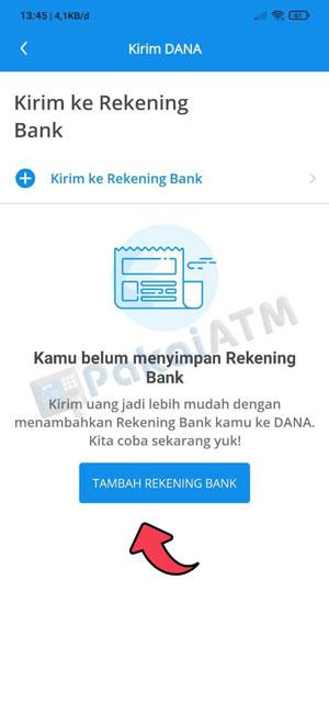 4. Klik Tambah Rekening Bank