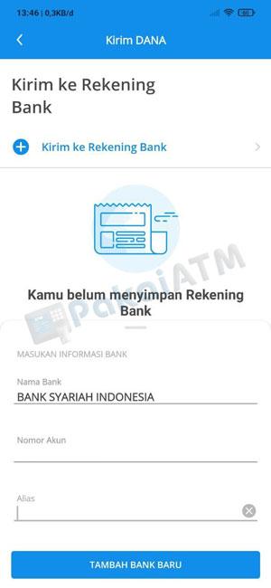 5. Masukkan Informasi Bank